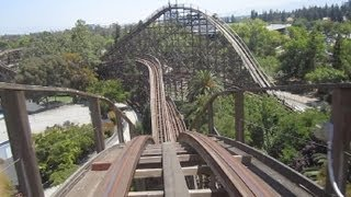 grizzly front seat on ride hd pov california s great america
