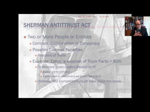 Anti Trust and Unfair Trade Practices