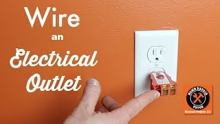How to Wire an Elecrical Outlet (Important Tips) -- by Home Repair Tutor