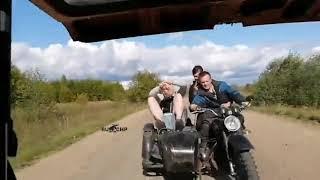 Остановите мой ор парни на мотоцикле. Прикол 2019 ржач