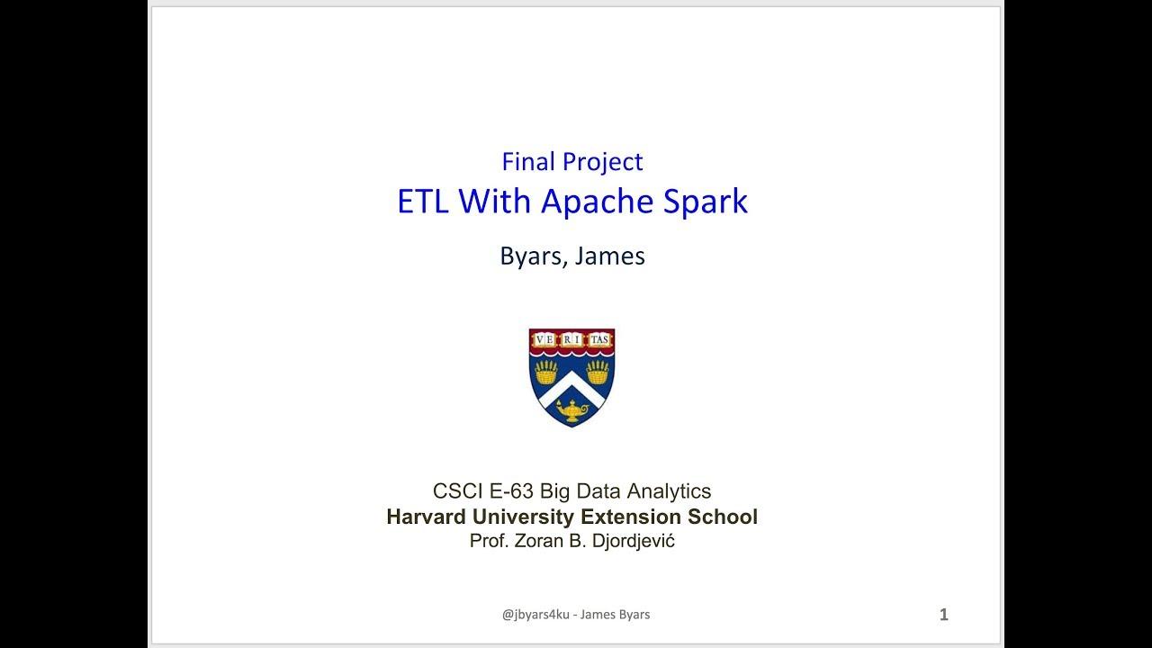 ETL With Apache Spark