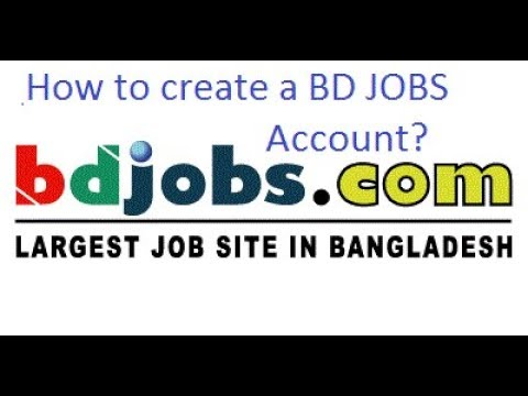 How to create a Bd Jobs Account ?