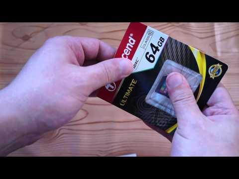Обзор (окончательный) распаковки-Unboxing-а карты памяти SDXC TRANSCEND 64 ГБ, Class 10...