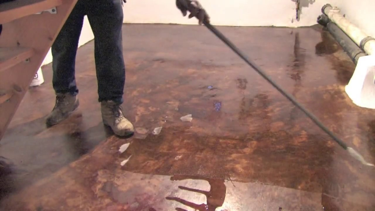 How To Acid Stain Bat Floor Concrete And Cement Contractor