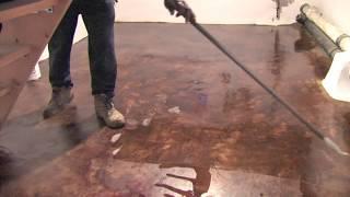 Acid Staining cellar floor basement floor philadelphia contractor