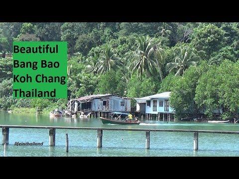 Bang Bao, Koh Chang, Thailand, Boats and shopping in the same place.