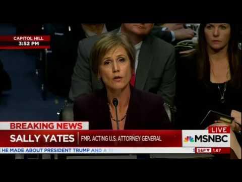 MSNBC Live  Sally Yates smashes TX. Senator John Cornyn