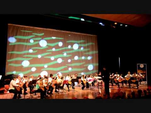 Dubai Classical Guitar Orchestra at GEMS World Academy 09 1211 / part 1/14