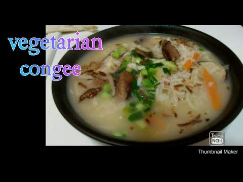 How to cook Healthy Vegetarian Congee (My Taiwanese recipe )