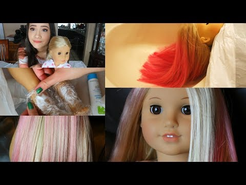 FIXING UP AND CUSTOMIZING AN OLD DOLL! (HAIR DYING)