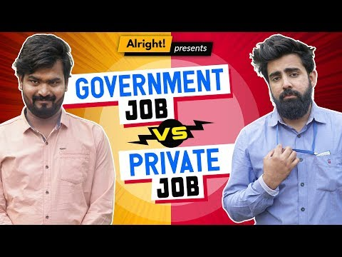 Alright! | When Govt. Employee Met Private Employee ft. Hasley India & Rishhsome