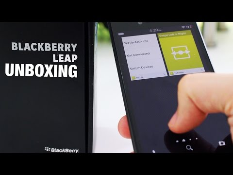 BlackBerry Leap unboxing and first impressions
