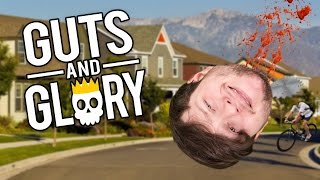 BLOODIER HAPPY WHEELS IN 3D?! | Guts and Glory (Funny Moments)