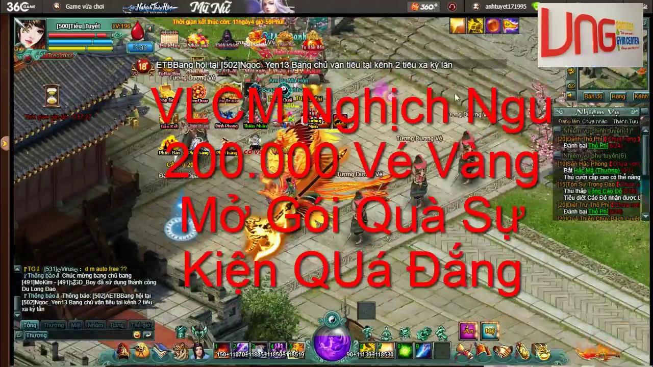 VLCM 360GAME - Quá Đắng ! 200 000 Vé Vàng Mở Gói Quà Sự Kiện Kiếm Huy  Chương Víp