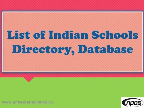 List of Indian Schools Directory, Database