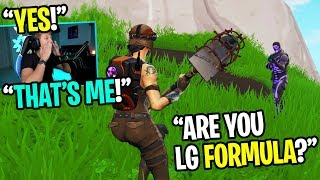 I told my RANDOM DUOS partner I was LG FORMULA.... (HE BELIEVED ME!)