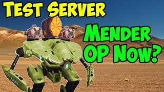 War Robots Test Server [4.0] Mender Now OP? Healing Gameplay Tutorial