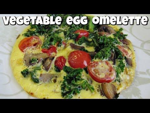 Vegetable Omelette, Kale, mushrooms, cherry tomato I Lorentix