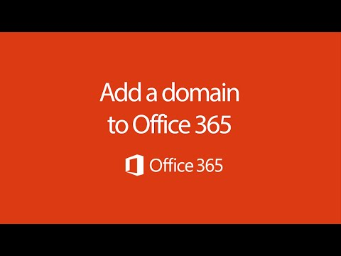Set up your domain in Office 365