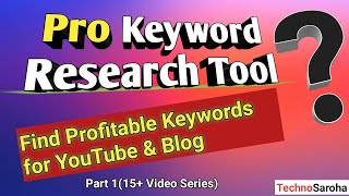 {2019} Best Free Keyword Research Tool-Easy to use For Blogposts & YouTube Video SEO in Hindi