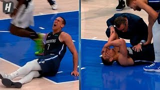 Dwight Powell ACHILLES INJURY - Clippers vs Mavericks | January 21, 2020