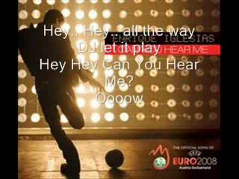 Enrique Iglesias - Can you hear me (with lyrics)