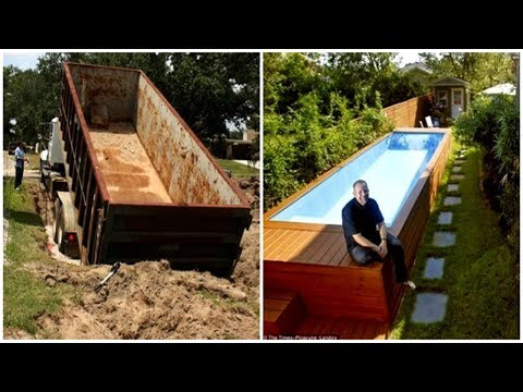 Crazy Architect Built A Luxury DIY Pool In His Backyard Using Only A Dumpster