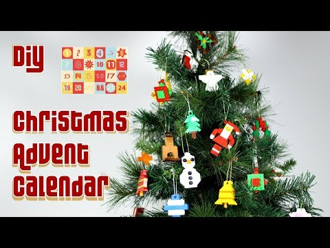 DIY LEGO Christmas Advent Calendar - How to Make LEGO Christmas Decorations