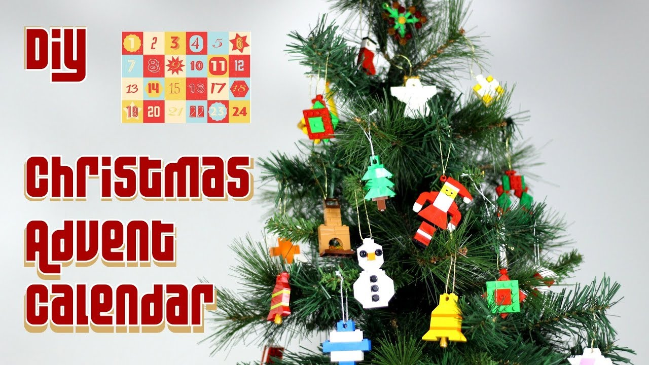 Diy Lego Christmas Advent Calendar How To Make Lego Christmas Decorations