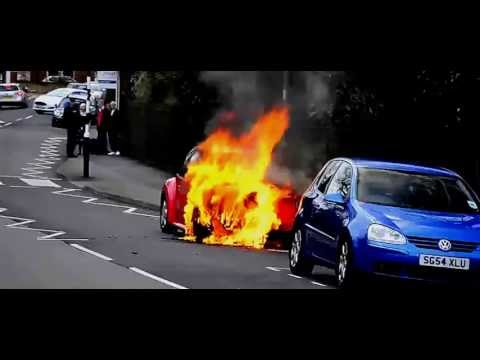 VW Beetle Explodes into flames - 110,350 New Beetle models being recalled (fuel leaks)