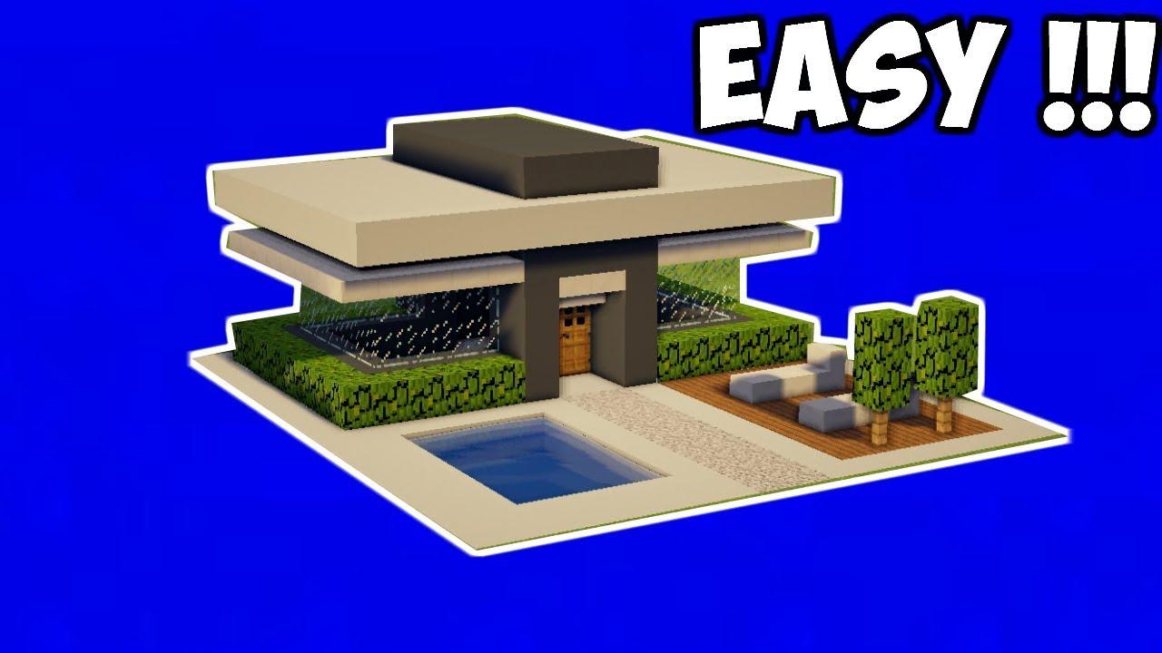 Minecraft Tutorial Cara Membuat Rumah Kecil Modern 10 Youtube