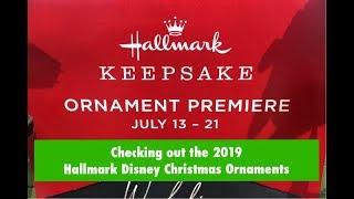2019 Hallmark Keepsake Disney Christmas Ornaments
