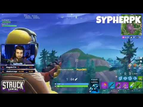 A fortnite sniper snipes a gamer alone