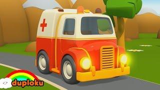 vuclip Puzzle Mobil-mobilan Lucu Pemadam, Ambulance, Mobil Polisi, Truk Derek | Duploku