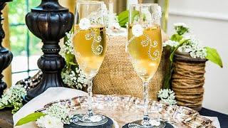 DIY Wedding Flutes - Home & Family