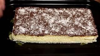Торт без выпечки а-ля баунти