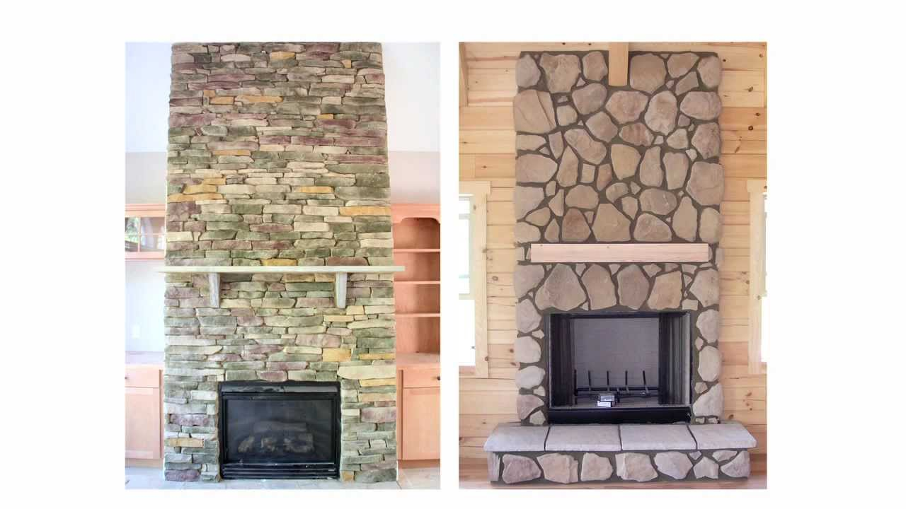 Fireplace stone veneers and facades from http://www.stoneselex.com make a huge difference in the look and feel of your fireplace installation