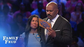 Kristin and Chris GOT THIS! | Family Feud