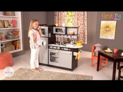 kidkraft uptown espresso kitchen - youtube
