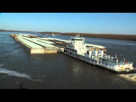 Ingram Barge aerial footage- largest barge