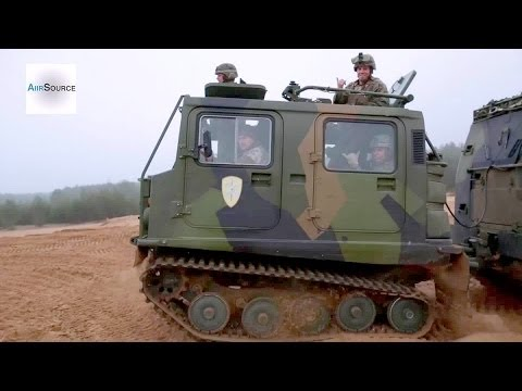 US Marines FUN RIDE - Latvian Bandvagn 206 Tracked Carrier