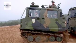 US Marines FUN RIDE - Latvian Bandvagn 206 Tracked Carrier