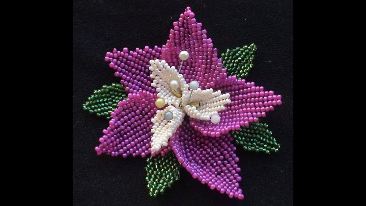 схема плетения орхидеи бисером