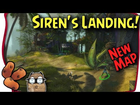 """Guild Wars 2 - New Map """"Sirens Landing"""" Explanation, Mechanics and Tour"""