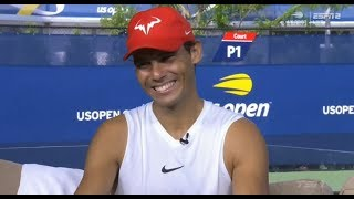 Rafael Nadal Interview for ESPN before QF at US Open 2018