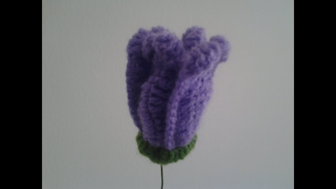 How to crochet tuliprajut bunga tulip ungu youtube merajut bunga tulip ungu youtube ccuart Images