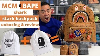 MCM x BAPE Collab Backpack Unboxing and Review