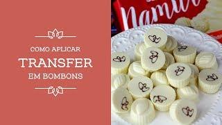 Técnicas de Chocolate   Como Aplicar Transfer em Bombons