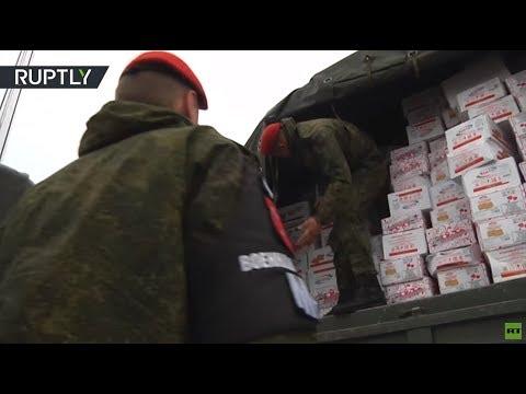 New Year lifeline: Russian humanitarian aid cargo lands at Khmeimim Airbase bearing gifts