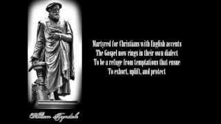 William Tyndale Tribute Poem